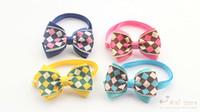 Wholesale Bow Store - Armi store Handmade Plaid Ribbon Fashion Dog Tie Dogs Bow Ties Pet Accessories