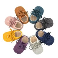 Wholesale Infant Pre Walkers - Baby shoes new baby girls lace-up soft bottom shoes Infant kids Pre walkers toddler kids leisure shoes baby first walkers 6243