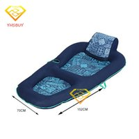 Trapezoid Board outdoor comfort chairs - wimming Diving Air Mattresses New Luxury Comfort Deck Chair Water Floating Raft Blue Adults Pool Float Outdoor Furniture Sofa Swimmi