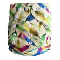 Wholesale one month baby diapers resale online - Newst snaps baby cloth diaper Reusable Print baby cloth diaper One Size Pocket Diaper Cloth nappy for you lovely baby