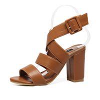 Wholesale Leather Sandal Sex - New Summer Sex Women shoes Thick high heels women sandals Peep-toe sandal Roman style woman shoes chaussure femme