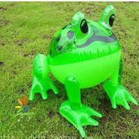 ingrosso gomma gonfiabile-Trasporto libero all'ingrosso 10pcs / lot gonfiabile animale grande giocattolo all'aperto della spiaggia dei bambini della grande rana dell'animale di modo