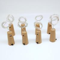 drahtzähler groihandel-Flasche Lichterkette 20-LEDs 2 Meter Splitterdraht mit Flaschenverschluss für Glas Handwerk Hochzeitsdekoration und Party Licht