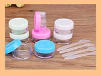 Wholesale Korean Containers - 3G Cream Jars Screw Caps Clear Plastic Makeup Sub-bottling Empty Cosmetic jar Container Small glass jars