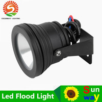 Wholesale Led Outdoor Color Spot - 10pcs Outdoor black color Case 10W Underwater LED Flood Wash Pool Waterproof Light Spot Lamp 12V Whoelsale