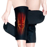Wholesale Magnetic Belt Knee - 1Pair High Quality Tourmaline self heating kneepad Magnetic Therapy knee support tourmaline heating Belt knee Massager