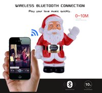 Wholesale Hand Portable Radio - Santa Claus Bluetooth mini speaker, Portable wireless mini Hifi Bass mp3 stereo Hands-free Calls FM Radio TF Card AUX-IN Supported
