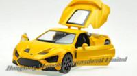 dänische modelle großhandel-1:32 Alloy Diecast Car Modell Für Dänische Roadster Zenvo ST1 Sammlung Zurückziehen Spielzeug Auto Mit SoundLight-Gelb / Weiß / Grau