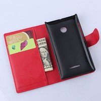 Wholesale Covers Bags For Microsoft - Luxury Wallet Stand Flip Cover For Nokia 435 Retro Leather Case for Microsoft Nokia Lumia 435 Phone Cases with Card Holder Bag