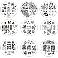 Wholesale Diy Images Flowers - Wholesale-10pcs New Flower Nail Art Image Stamping Plates Nail Stamp DIY Tips Polish Templates Stencil Manicure Tools STZA01-30