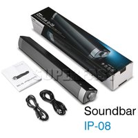 IP-08 Haut-parleur sans fil Bluetooth Haut-parleur de subwoofer Big Bass portable HIFI Music Soundbar TF Card AUX pour téléviseur Smart Phone avec Retail Package
