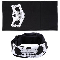 Wholesale Helmet Punk - Wholesale- Hot Halloween Punk Skull Mask Bandana Snood Helmet Face Headband Wind Hood Balaclava Neck Tube Snood Scarf W1