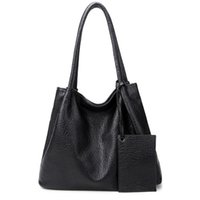 Wholesale Handbags Matching Wallet - Women Fashion Matching Satchel Handbags with Wallet Ladies Handbag PU Leather Tote Bag Composite Bag Designer Handbag Set