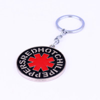 fashion black pepper design - Rock Music Band Red Hot Chili Peppers keychain Metal Keyring Simple Design chaveiro key holder