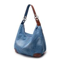 Wholesale Denim Over - Wholesale- Fashion denim bag over shoulder ladies large casual bolsa women shoulder bag designer handbags bolsa feminina sac bandouliere