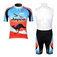 Wholesale Jayco Cycling - Jayco team 2017 cycling jersey set kit short sleeve cycling clothing mtb bike short jersey set summer style bike wear sportswear K6