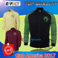 Wholesale Dark Green Jersey - 2017 LIGA MX Mexico CLUB AMERICA Third Green Centenary Hoodie red Dark Blue Jackets Soccer Jerseys 16 17 Maillot de foot Third N98 shirts