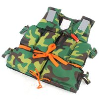 Wholesale Flotation Jackets - Wholesale- Adult Foam Flotation Water-proof Cloth Swimming Camouflaged Life Jacket Vest Boating water fishing for Swimming Drifting