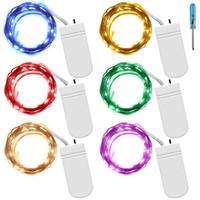 ingrosso rame di luce della stringa della batteria-Fairy String Lights 2m 20LED Batteria Starry String Lights Filo di rame Firefly LED Luci lunari per la cena