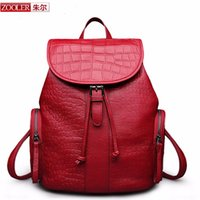 Wholesale Zooler Bags - Wholesale- ZOOLER BRAND women leather backpacks 2017 new Classic , genuine leather backpack Unisex school bag three colors limited #1055