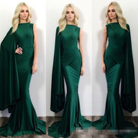 Wholesale Sexy One Pieces Party Wear - 2016 Hunter Green Mermaid Formal Evening Dresses Michael Costello One Shoulder Sweep Train Plus Size Prom Party Gowns Occasion Event Wears