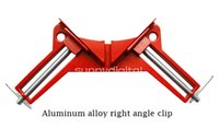 Wholesale Clip Tiles - 90 Degree Right Angle Corner Clamp Reinforced right angle clip Miter Vise Vice Picture Frame Holder Woodworking Light Duty