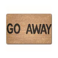 Wholesale welcome doormat - Personality Design Welcome Door Mats Hola Go Away Wipe Your Paw Pattern Doormat Floor Mats Anti-slip Area Rugs Carpet