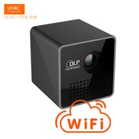 Wholesale pico phone - Wholesale- Pico P1 P1+Wireless WIFI ECcast Handhold HD DLP LED 3D Projector beamer proyector with Battery Built-in withTF  Micro USB Phones