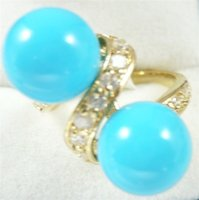 Wholesale Mothers Rings Cheap - Wholesale cheap 10mm white pink gray black yellow blue red black shell pearl 18KGP ring(#6-9)