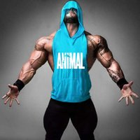 Großhandel-Männer Brief Print Loose Active Fitness Hooded Tank Tops Für Männer Bodybuilding Muskel Ärmellos T-Shirts Westen Undershirt Tanks
