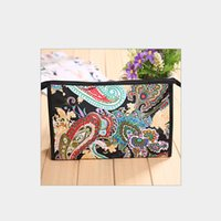 Wholesale Cheap Korean Cosmetics - MB-29 Cheap Chinese style satin zipper makeup pouch cosmetic promotion bag for free shipping DHL