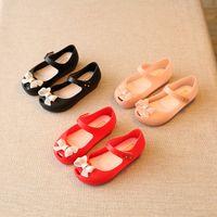 Wholesale Cute Heels Bows - Girl Bowknot Comfortable Jelly Shoes Children Sandals Cute Princess Shoes Fashion kids sandals mini Melissa 24-29