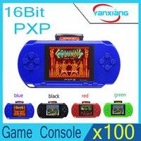 Wholesale 16 Bit Handheld Game Console - 100pcs PXP3 Game Console Handheld Portable 16 Bit Retro Video 150 Handheld Video Game Player YX-PXP3-1
