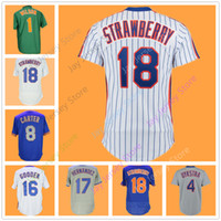 Wholesale boys baseball jersey black - Cooperstown Jersey Darryl Strawberry Keith Hernandez Dwight Gooden Gary Carter Lenny Dykstra Mookie Wilson Home Away Flexbase