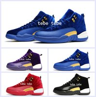 Wholesale Gold Velvet Sport - 2017 New Retro 12 XII Red Gold Velvet Heiress Mens Basketball Shoes High Cut Wool Sneakers Retros 12s Trainers Athletics Man Sports Shoes