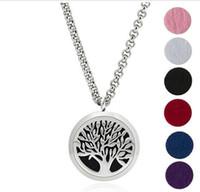 Wholesale Enamel Box Chain Necklace - Titanium aromatherapy essential oils pendant perfume oil bottle box is a circular pendant long sweater chain family jewelry