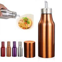 Wholesale Bottle Oiler - Wholesale- 1Pcs Stainless Steel Leak-proof Oiler Spice Jar Soy Sauce Bottle Kitchen Supplies Cruet Vinegar Bottle Oil Bottle