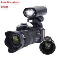 lente de destaque venda por atacado-2019 PROTAX D7300 câmeras digitais 33MP DSLR Profissional câmeras 24X Zoom Óptico Telephotos 8X Lente Grande Angular LEVOU Spotlight tripé
