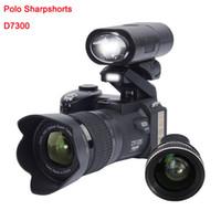 scheinwerfer kameras großhandel-2019 PROTAX D7300 Digitalkameras 33MP Professionelle DSLR-Kameras 24X Optischer Zoom Telefotos 8X Weitwinkelobjektiv LED-Scheinwerfer Stativ