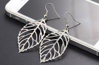 Wholesale Nobles For Sale - Noble Vintage Leaf Earring 2016 New Design Bohemian Hollow Earrings Charm Jewelry For Women Wholesale Hot sale