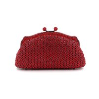 Wholesale Beaded Pillow Red - Ladies Handbag Red Beads Diamond Hallow Out Beaded Evening Bag Hand Bag Party Bride Cheongsam Ajustable Party BD079