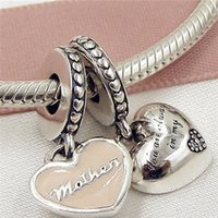 27ea840cb New 100% 925 Sterling Silver Mother & Daughter Hearts Dangle Charm Bead Fit  European Pandora Jewelry Bracelets Necklaces & Pendant