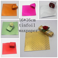Wholesale foil wrapped chocolates resale online - Aluminium Wax Complex Paper Chocolate Wrapping Tin Foil Baking Paper Colours Chewing Gum Candy Sugar Package Bag cm