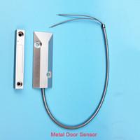 Wholesale Magnetic Door Switch Wired - NC NO Wired aluminum alloy Roller Shutter metal gate Door Magnetic Switch Alarm Door Sensor for Home Alarm System keypad