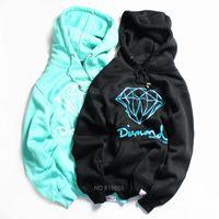 camisola dos hoodies do diamante venda por atacado-Atacado Diamante Fornecimento Co Homens Hip Hop Hoodies Sudaderas Hombre Homens Moletom Com Capuz Skate Moleton Masculino frete grátis