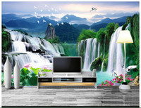 Wholesale 3D photo wallpaper custom d murals wallpaper Water landscape Chinese background wall paper d living room wall decor