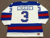 Pas cher personnalisé KEN MORROW 1980 USA K1 Olympique Throwback Hockey Jersey