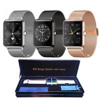 mp4 relógio telefone venda por atacado-Mais novo de luxo lf11 z50 bluetooth smart watch smartwatch com monitor de freqüência cardíaca cartão sim tf mp3 mp4 compatível para android ios telefones