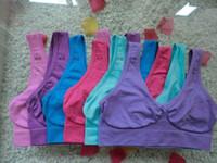 Wholesale Ladies Full Body Seamless - 100pcs Top Quality Sexy Underwear Seamless Ahh Bra Ladies Ahh Bra Sports Yoga Bras Pullover Bra Body Shaper