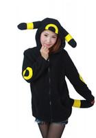 Wholesale Side Zip Hoodie Jacket - HappyBuy Umbreon Adult Unisex Costumes Side Pockets Hoodie Zip Closure Animal Costume Hooded jacket Kigurumi Cardigan Hoodies